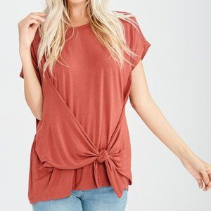 Top With Front Tie Detail